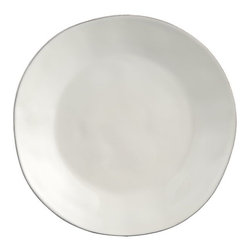 Marin White Dinner Plate - Simple and pretty white dinner plates are easy to dress up.