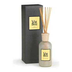 Verbena A.B. Home Room Diffuser - 16 oz. - Verbena's clean, crisp lemon and green smell is so distinct that if you are familiar with it, you can recognize it anywhere. Traditionally used in teas and in herbal remedies, this Verbena A.B Home diffuser is meant only to delight the olfactory senses and bring a sense of calming energy to your space.