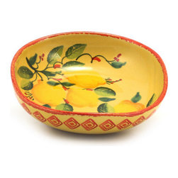 Artistica - Hand Made in Italy - Marikla: Salad/Pasta Bowl Square - Lemon Design - The all New Marikla is truly a distinctive collection of table top and gift items.