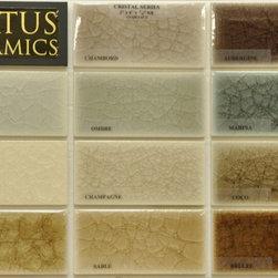 Status 2x4 Cristal glaze colors - Status 2x4 Cristal glaze color palette.  Field tile come in 2x2,2x4,2x6,2x8,3x6,6x6,4x4,4x8,8x8