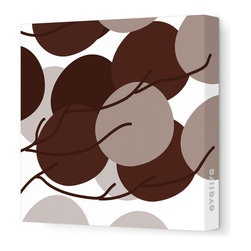 "Avalisa - Imagination - Buds Stretched Wall Art, 12"" x 12"", Brown - If florals just feel fussy to you, go for just the suggestion of about-to-bloom blossoms. The simple design and sleek look of stretched, unframed fabric make a clean, clever focal point for your favorite setting."