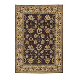 """Karastan - Karastan English Manor 2120-00513 (Stratford Mahogany) 2'6"""" x 4' Rug - They come here to laugh and love, to distract themselves or someone else, to rest and renew. This is Brighton, the nearest seacoast resort to London and the place where the Prince Regent came to play. Our Brighton rug, a modern version of a Herat or Feraghan design, sets a tone of elegant indulgence with a stately combination of lush blooms, orderly palmettes, and lattice stems and vines. The versatile color palette includes red, indigo, ivory, yellow, caramel, deep terracotta, medium blue, and soft green."""