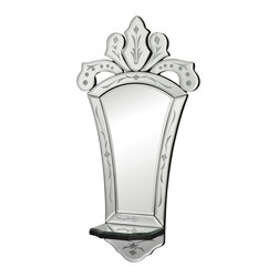 Sterling Industries - Sterling Industries 114-27 Holtshire Mirrors in Clear - Holtshire-Mini Venetian Mirror With Shelf