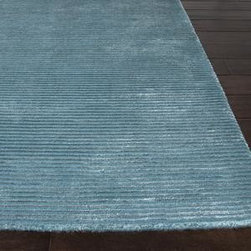 Jaipur - Jaipur Basis Basis 8' x 10' Deep Turquoise Rug - The Basis rug collection is hand loomed in a textural loop and cut ribbed construction. Made from wool and art silk, it has a casual modern feel with a soft hand and lusterous finish. It is offered in a full range of colors.