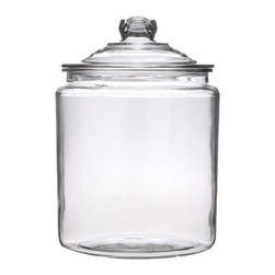 Heritage Hill Jar, 2-gal. - I love the classic look of Heritage Hill storage jars, and if you're not short on counter space, they're perfect for storing (and displaying) the dried goods you use frequently. The wide mouth also makes them great for measuring and scooping from.
