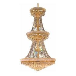 Elegant Lighting - Elegant Lighting 1800G42G Primo 38-Light, Three-Tier Crystal Chandelier, Finishe - Elegant Lighting 1800G42G Primo 38-Light, Three-Tier Crystal Chandelier, Finished in Gold with Clear CrystalsElegant Lighting 1800G42G Features: