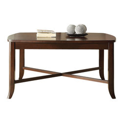 Office Star - INSPIRED by Bassett Bella Coffee Table in Truffle Finish - Coffee Table in Truffle Finish belongs to Bella Collection by Ave Six Series   Coffee Table (1)