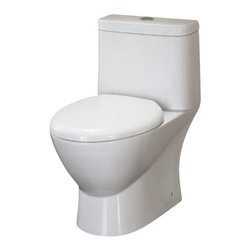 """Ariel - Ariel Platinum """"Adriana"""" Contemporary European Toilet with Dual Flush - Ariel cutting-edge designed one-piece toilets with powerful flushing system. It?s a beautiful, modern toilet for your contemporary bathroom remodel. Dimensions: 28 x 15 x 28, UPC Approved, 12"""" Rough in For easy standard installation, High Quality Glaze that resist stains and Microbes, Seat is Included with the Toilet, Fully Glazed Trapway for smoother flushes, Elongated Bowl, Elongated Bowl"""