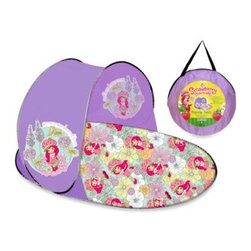 Morgan Home Products - Strawberry Shortcake Pop Up Tent - Let you imagination run wild without leaving the living room. This licensed product is a roomy tent and a cozy play space.