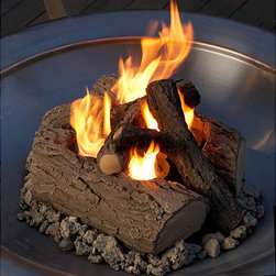 Real Flame - Real Flame Gel-burning Outdoor Log Set - Create beautiful flames quickly and easily with these gel-burning fireplace logs. You can also forget about hauling firewood and cleaning up nasty messes when using them. This set can also be easily moved to get the perfect placement.