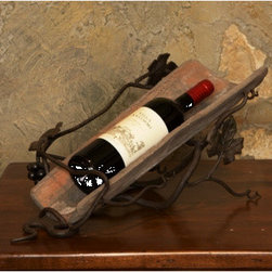Wrought Iron Tile Wine Holder -