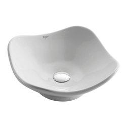 Kraus - Kraus White Tulip Ceramic Sink - *Add an elegant touch to your bathroom with a Kraus ceramic washbasin