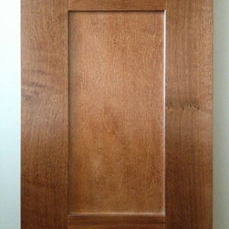 """Echelon Cabinetry - The Norwich cabinets are a standard reveal door with recessed, Shaker style flat panel-in-frame. The 2-1/2"""" wide maple style cabinet door frames are assembled with mortise and tenon joints, just like the craftsmanship found in fine furniture. Cafe Finish Pictured."""