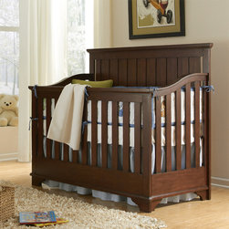 Great Finds for Kids' Rooms - Rosenberry Rooms - A gorgeous cherry wood finish on the new Mason Convertible Crib!