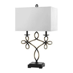 CAL Lighting - Cal Lighting Norwalk Resin and Metal Table Lamp - 150W 3-Way Norwalk Resin Metal Table Lamp