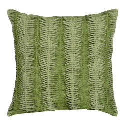 "Surya - Surya Pillow X-D8181-4620P - The solid, textural design of this pillow makes it the perfect finishing touch for any room. The color green accents this decorative pillow. This pillow contains a poly fill and a zipper closure. Add this 18"" x 18"" pillow to your collection today."