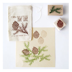 Conifer Stamp Set - I like that this little pine cone stamp set isn't holiday specific — use it anytime in the colder months for gift giving or card making.