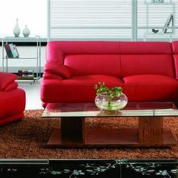 Graceful Leather Corner Sectional Sofa - Features:
