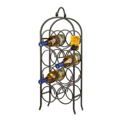 Oenophilia - Oenophilia Arch 8-Bottle Wine Rack - Store and display your wine bottles in this elegantly designed wine rack. The black wrought iron rack has classic lines and an easily flowing shape, making it a wonderful accent in any dining room, living room or den.