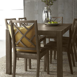 Horchow - Karington Ash Dining Set - Imagine the possibilities—a Parson's style dining table and lattice-back chairs in complementary finishes. Elegant enough for formal gatherings and durable enough for every day, this is mix and match dining at its best. Save on discounted delivery....