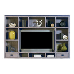 Lillian August - Cole Cabinet - Weathered Wood, Cole Topper - Weathered Wood - Dimensions