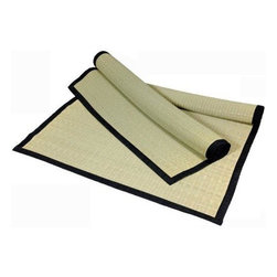 """Oriental Furniture - Goza Mat - This Goza mat is similar to the top layer of a traditional Tatami Mat and measures about 1/8"""" in thickness."""