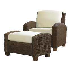 Home Styles - Home Styles Furniture Cabana Banana 2-Piece Set: Chair and Ottoman - Home Styles - Club Chairs with Ottomans - 5402100 - Cabana Banana 2-Piece Set: Chair and Ottoman in Cocoa Finish
