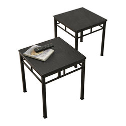Altra Furniture - Altra Furniture Wexford End Table Bundle in Espresso and Black Finish (Set of 2) - Altra Furniture - End Tables - 5095096 - The Wexford End Table Bundle finishes off your room and Wexford Collection. These are great as tables next to a chair or sofa.