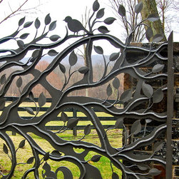Howard Roberts - A wonderful custom metal gate entry that was built by a local artist.