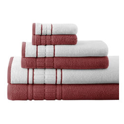 Spring Bloom Quick Dry Egyptian Cotton 6-piece Towel Set  Cinnamon - Indulge yourself in spa like luxury with this luxurious six-piece towel set. The set is made of Egyptian cotton known for its softness, absorbency, and durability. These towels make an ideal complement to any bathroom whether you use it to pamper yourself or reserve it for special guests. Egyptian cotton fibers are valued for their superior length and strength, which also reduces the buildup of pile and lint. These towels will feel cozy and comfortable against your skin every time you use them. Additionally the towels get softer with washing and drying.