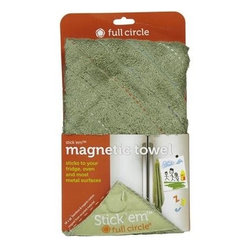 Full Circle Home Stick 'em Magnet Kitchen Towel - Case Of 12 - Earth-Friendly Cleaning Tools