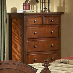 Homelegance - Homelegance Aris 35 Inch Chest in Brown Cherry - Classic in design and bold in style  the youth version of our popular Aris Collection adds warmth and character to your child's bedroom. Bun feet serve to support the simple yet elegantly designed case pieces  while the warm brown cherry finish on select hardwoods and veneers completes the overall look. Student desk with hutch and coordinating chair are also available.