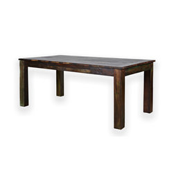 Reclaimed Rosewood 6 Person Dining Table - A rustic yet simple reclaimed rosewood dining table comfortably seats 6. This table is built entirely of reclaimed rosewood imported from India. The lumber used make this table is very solid and sturdy for a lifetime of use and enjoyment.
