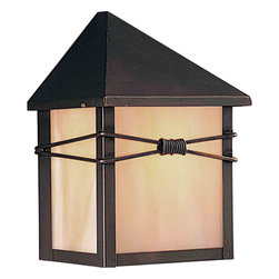 Maxim Lighting - Maxim Lighting 8041IRBU Taliesin Burnished Outdoor Wall Sconce - 1 Bulb, Bulb Type: 60 Watt Incandescent