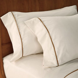 Velvet corded linen sheet set