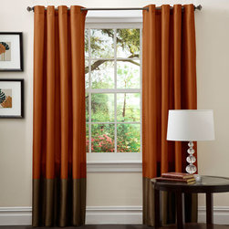 Lush Decor - Prima Brown/Rust Window Curtain, Set of Two - - Perfect for any room, these Prima window panels feature a classy, simple design. Metal Grommets slides onto curtain rod for installation. Full lining provides extra insulation and privacy. Includes: 2 panels  - Size - 54X84  - Includes: 2 Window Panels  - Top Pocket - Metal Grommet  - Non-Weighted  - Additional Hardware Necessary - Rod  - Panel: 54x84  - Fabric Content:100% Polyester  - Care Instructions: Comforter/bed skirt/shams: dry clean * Pillows: spot clean  Lush Decor - C00984Q12