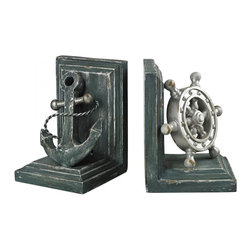 Sterling Industries - Coastal Book Ends - Coastal Book Ends