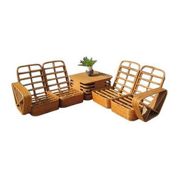 SOLD OUT!  Vintage Modern Modular Rattan Set - $5,000 Est. Retail - $1,950 on Ch -