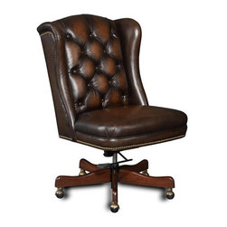 Hooker Furniture - Hooker Furniture Executive Chair, Dark - Product Details