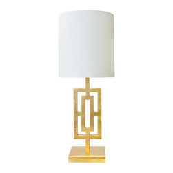 Worlds Away - Worlds Away Viola Gold Leaf Table Lamp - Worlds Away Viola Gold Leaf Table Lamp