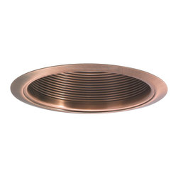 "Nora Lighting - Nora NTM-33 6"" Copper Stepped Baffle w/ Copper Metal Ring - 6"" Copper Stepped Baffle w/ Copper Metal Ring"