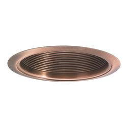 "Nora Lighting - Nora NTM-33 6"" Copper Stepped Baffle w/ Copper Metal Ring - 6"" Copper Stepped Baffle w/ Copper Metal Ring"