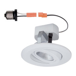"""Designers Fountain - Designers Fountain LED4742-WH 4"""" LED Recessed Gimbal Trim - White Finish"""