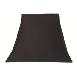 Home Decorators Collection - Home Decorators Collection Rectangular Bell 12 in. H x 16 in. W Medium Black Sil - Shop for Lighting & Fans at The Home Depot. The classic shape of our Rectangular Bell Silk Lamp Shade will complement a wide variety of decorating concepts. The gentle curves and pointed corners make a striking statement. Add this beautiful shade to your lamp and order yours today.