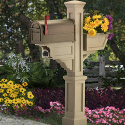 Grandin Road - Grandin Road Signature Plus Mail Post - Mail post is molded from weatherproof polyethylene. Easy care; simply rinse with a hose to clean. Structural elements ensure enduring, freshly painted beauty. 4 x 4 wooden post needed for mailbox set up. Our Grandin Road Signature Plus Mail Post combines impeccable style and function to provide you with distinctive curbside appeal. With classic lines and superb craftsmanship, this decorative mail post will endure for years to come.. . . . Note: Mailbox not included.