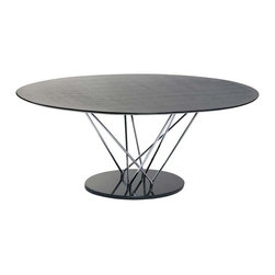 "Eurostyle - Eurostyle Stacy Pedestal Oval Dining Table w/ Black Marble Base - Pedestal Oval Dining Table w/ Black Marble Base belongs to Stacy Collection by Eurostyle This table makes a statement and it goes like this: ""I am strong, modern, built to last and I'm virtually indestructible"". It's true. With a marble base and black veneered top this table boasts a chromed steel infrastructure that is a marvel of sturdiness and style. Table Base (1), Table Top (1), Table Column (1)"