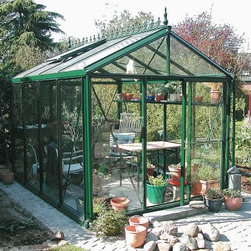 Janssens Royal Victorian 7.75 x 10.1-Foot Greenhouse - Additional FeaturesFeatures 4 interior shade net sectionsNet sections opens and closes with the pull of a cordEach side is independent of the otherHas 2 roof windows and 1 Louvre windowLouvre window adds additional air flowHas a full length gutter with downspouts on each sideIncludes assembly instructions and a DVDDoor measures 28W x 72H inchesSidewall height measures 6.58 feetPeak height measures 8.5 feetMeasures 7.75W x 10.1L x 8.5H feetSpacious, elegant, and durable, the Royal Victorian 7.75 x 10.1-Foot Greenhouse is constructed with a large aluminum framework with a thick and strong gauge and 4mm tempered glass. The tempered glass not only looks beautiful, but also adds insulation value, and safety to your greenhouse. The two roof windows and one Louvre window add additional air flow for your plants. A full length gutter with downspouts for collecting natural water runs the length of the greenhouse. The greenhouse also has a misting system with a hose attachment to help you water your plants. Assembly instructions and a DVD is included. Assembly is a weekend project for one or two people.About JanssensKnown as the incredibly sensible greenhouse company, Janssens has been associated with quality greenhouses and orangeries, and continuously gains knowledge and experience with these products. If you're looking for a greenhouse, they're confident they have what you want. Janssens bases their business on their ability to listen and adapt to individual customer requirements from the get go. Their experience, knowledge and flexible approach, together with a high level of openness and integrity, have resulted in an enviable level of customer recommendation. As they continue to progress, they retain their old fashioned virtues of customer service and satisfaction.