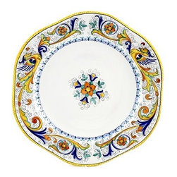 Artistica - Hand Made in Italy - Raffaellesco: Hexagonal Lg. Charger Platter - Raffaellesco Collection: Among the most popular and enduring Italian majolica patterns, the classic Raffaellesco traces its origin to 16th century, and the graceful arabesques of Raphael's famous frescoes.