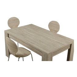 """Monarch Specialties - Monarch Specialties 1054 Dining Table in Natural - This transitional solid wood and veneer dining table is beautifully designed with a reclaimed natural finish. The 36"""" x 60"""" space allows for great entertaining and dining small or large parties. Featuring sturdy open block legs, this bold rectangular piece will make a statement in any home."""