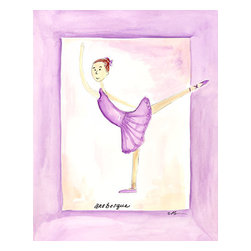 """Oh How Cute Kids by Serena Bowman - Purple Ballerina, Ready To Hang Canvas Kid's Wall Decor, 8 X 10 - """"Dancer in Purple""""  This is a darling little picture. Perfect for the little dancer in your life. Nothing is sweeter than a little ballerina!"""